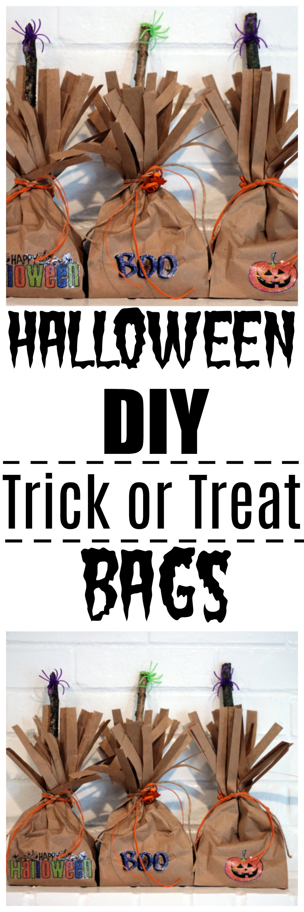 simple craft halloween DIY trick or treat bags