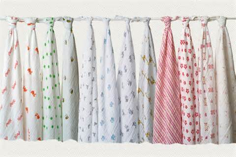 Aden and Anais Swaddles for Girls