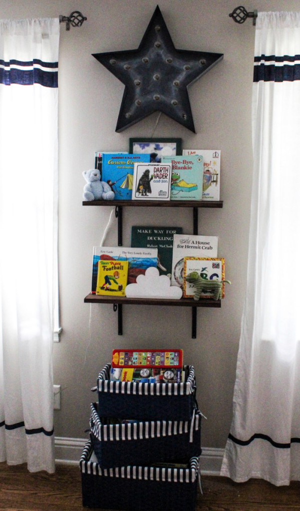 Toddler Boy Room Design Space Theme Book Shelves
