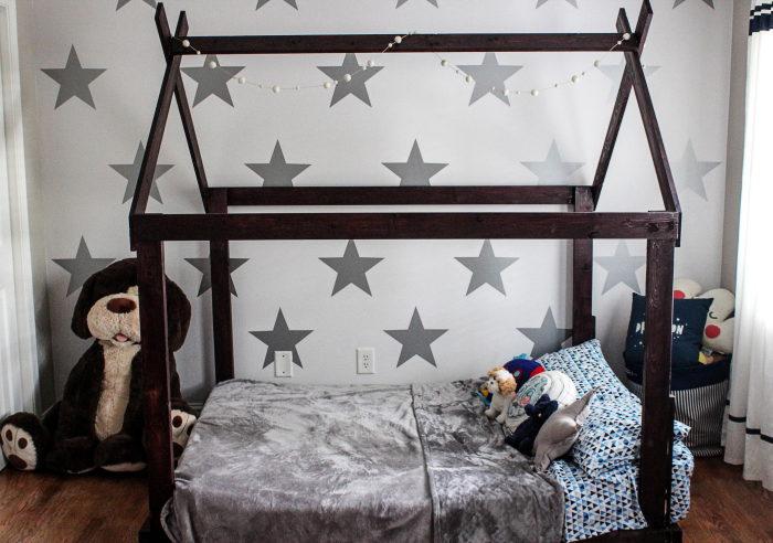 Toddler Boy Room Design Space Theme Urban Walls