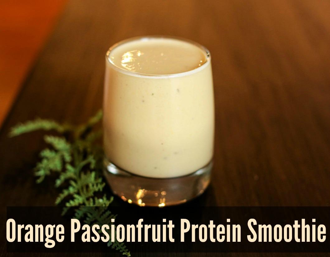 Orange Passionfruit Protein Smoothie