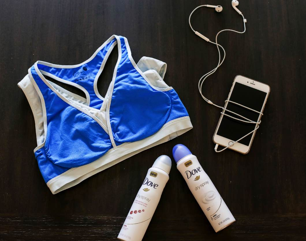 Postpartum Ab Workout with Dove Dry Antiperspirant Spray - Ab Exercises: Postpartum Workout with Dove by Atlanta fitness blogger Happily Hughes