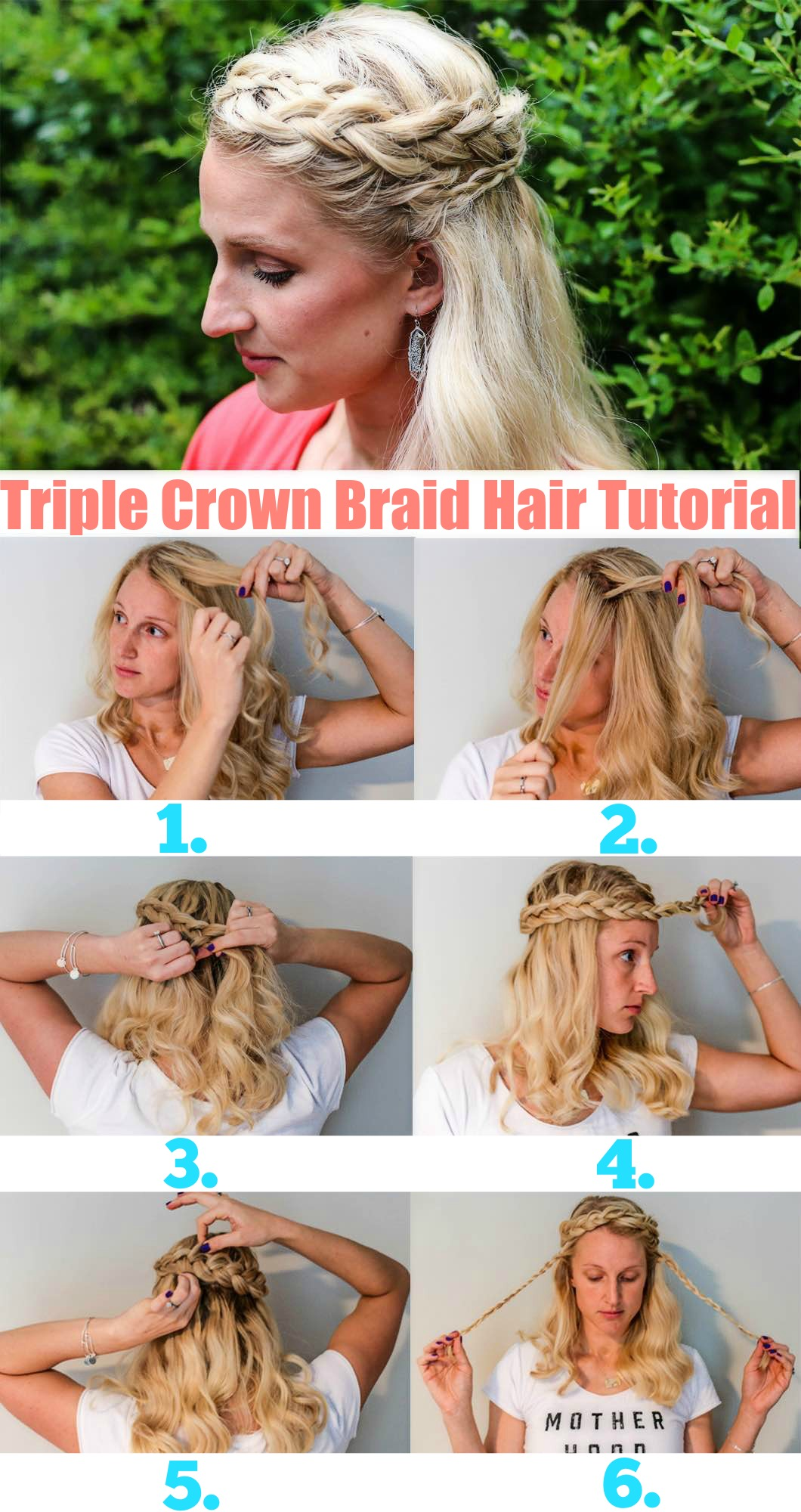 Triple Crown Braid Tutorial