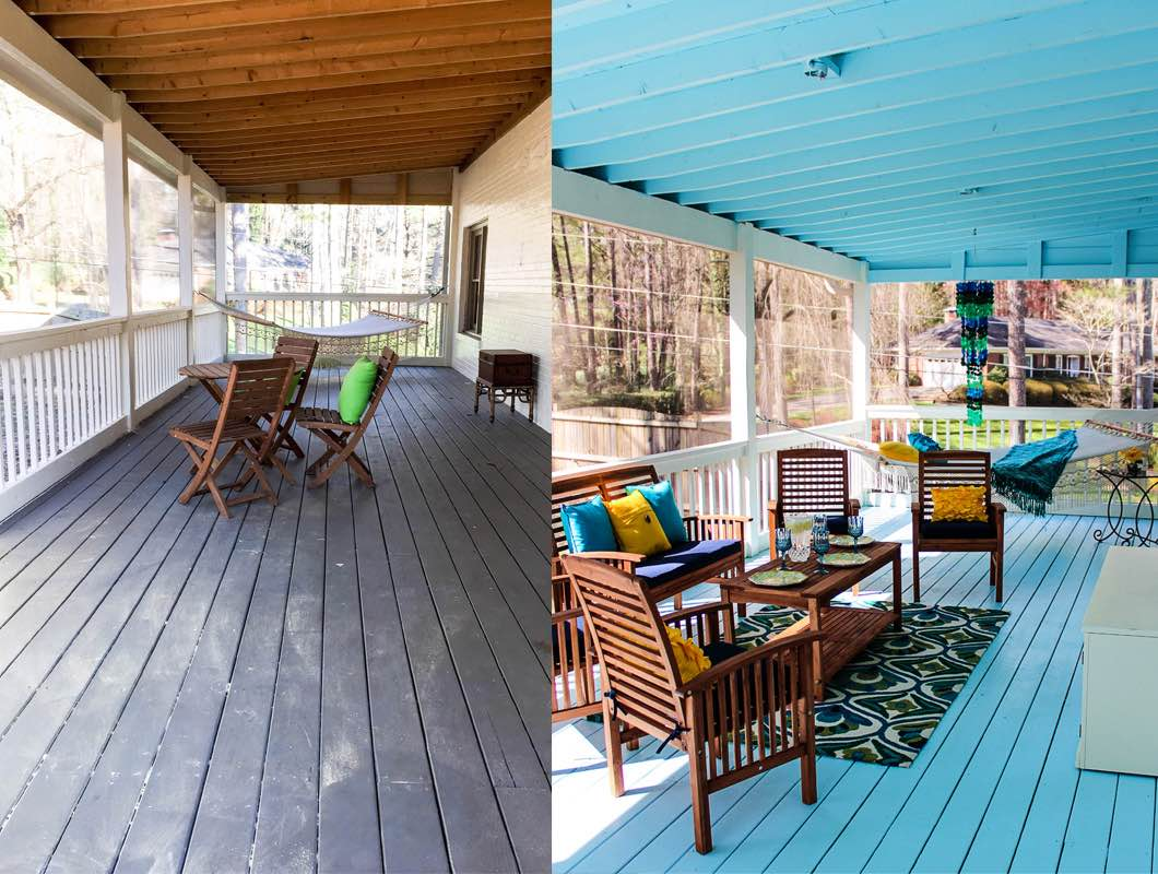 Back Porch Decorating Ideas Pier Happily Hughes