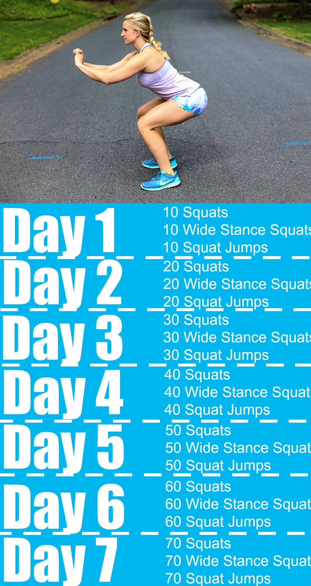 Seven Day Squat Challenge