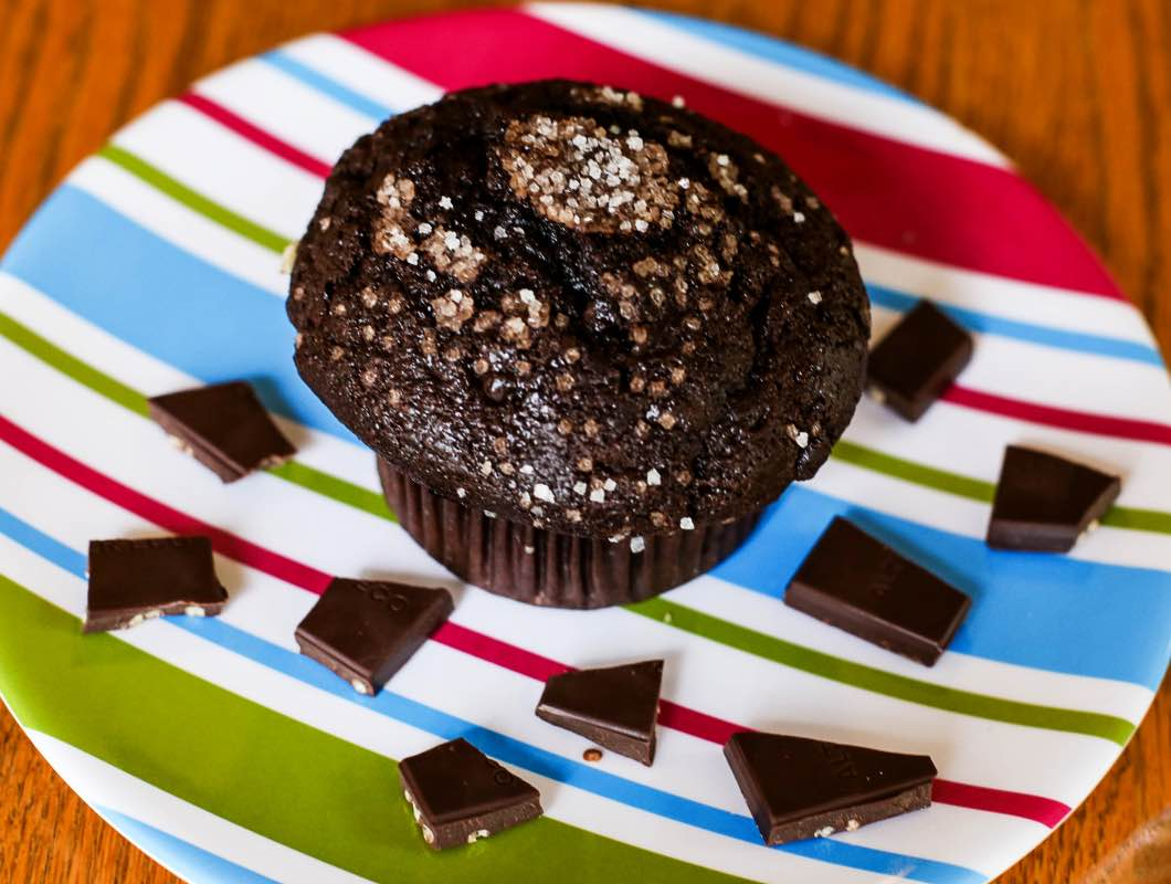 Dark Chocolate Protein Muffins