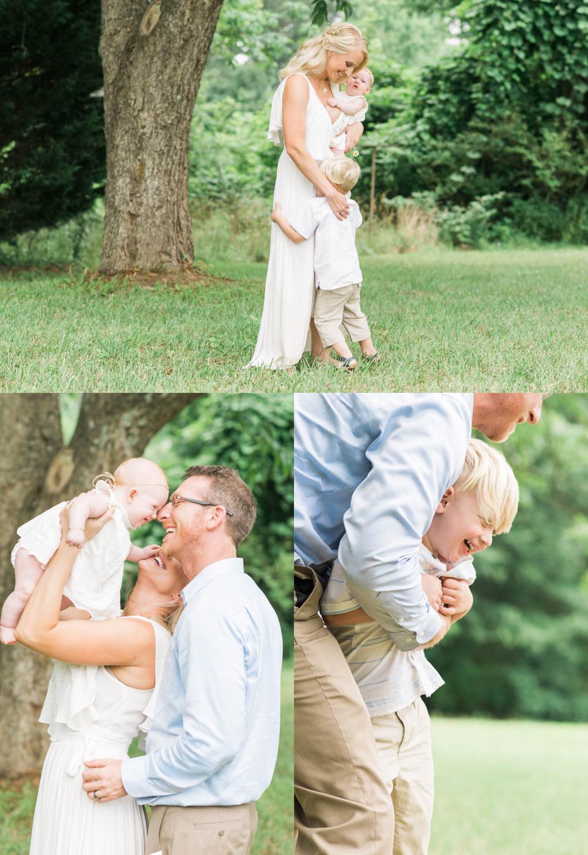 All White Family Lifestyle Photos
