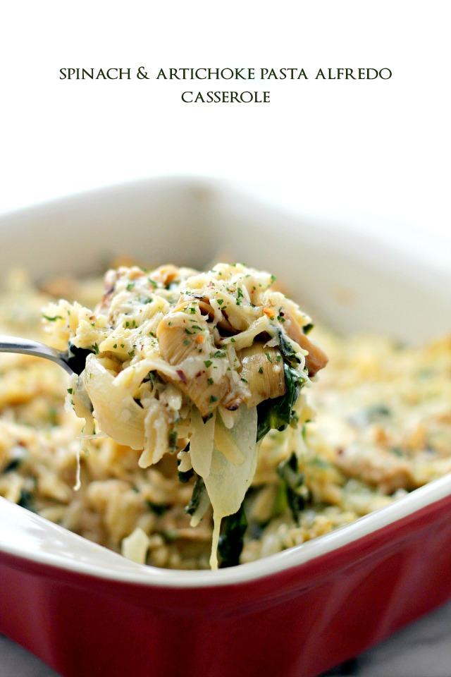 Spinach and Artichoke Pasta Alfredo