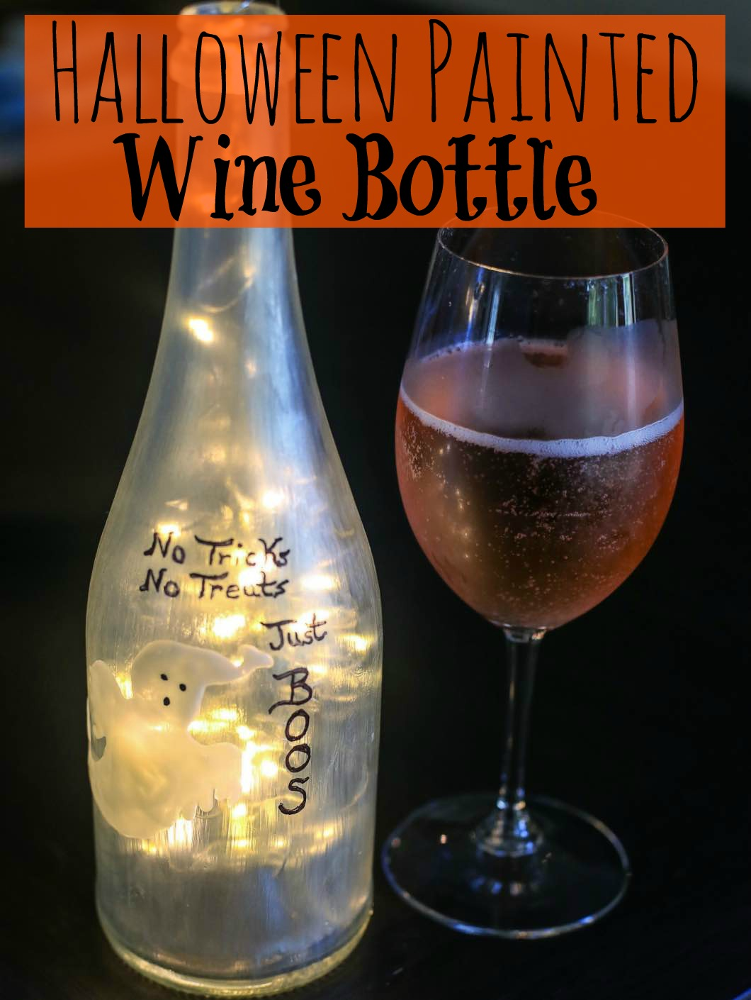 Halloween Painted Wine Bottle DIY Glass Paint