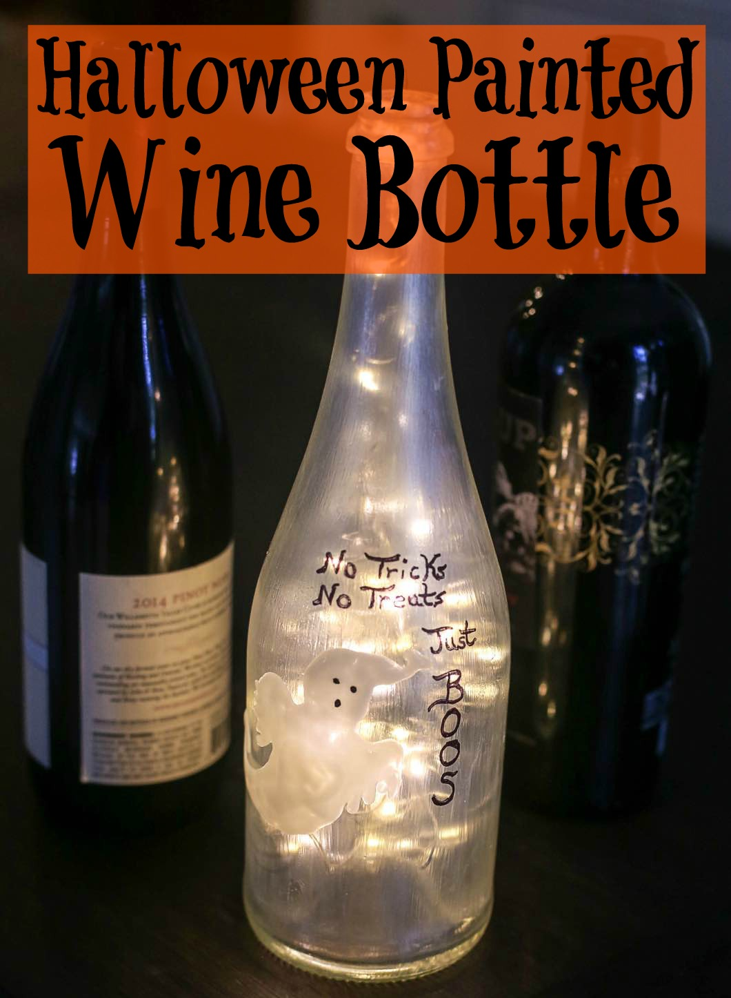 Halloween Painted Wine Bottle Glass Paint