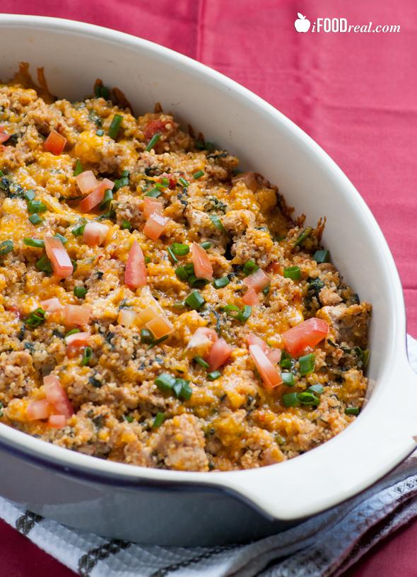 Turkey Spinach Quinoa Casserole