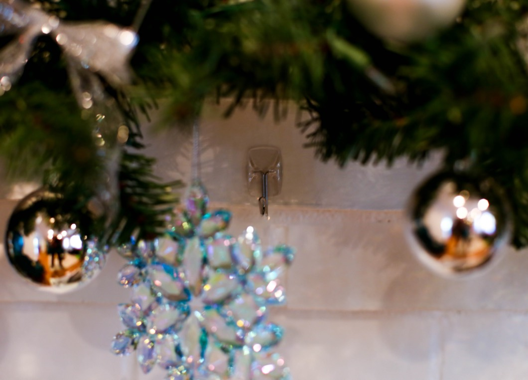 Christmas Mantle Decorating Ideas - Tutorial by Atlanta style blogger Happily Hughes