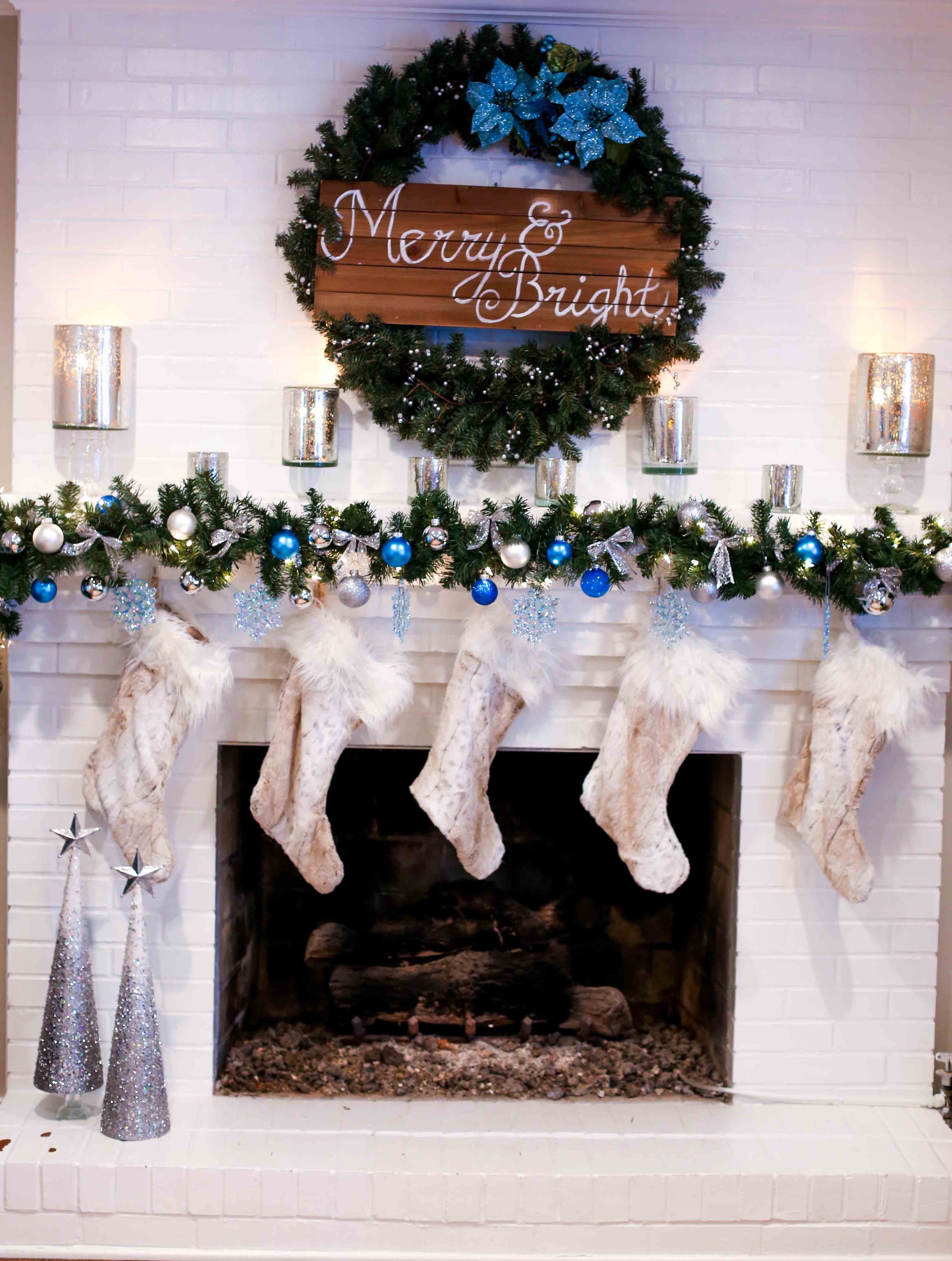 Christmas Mantle Decorating Ideas - Tutorial