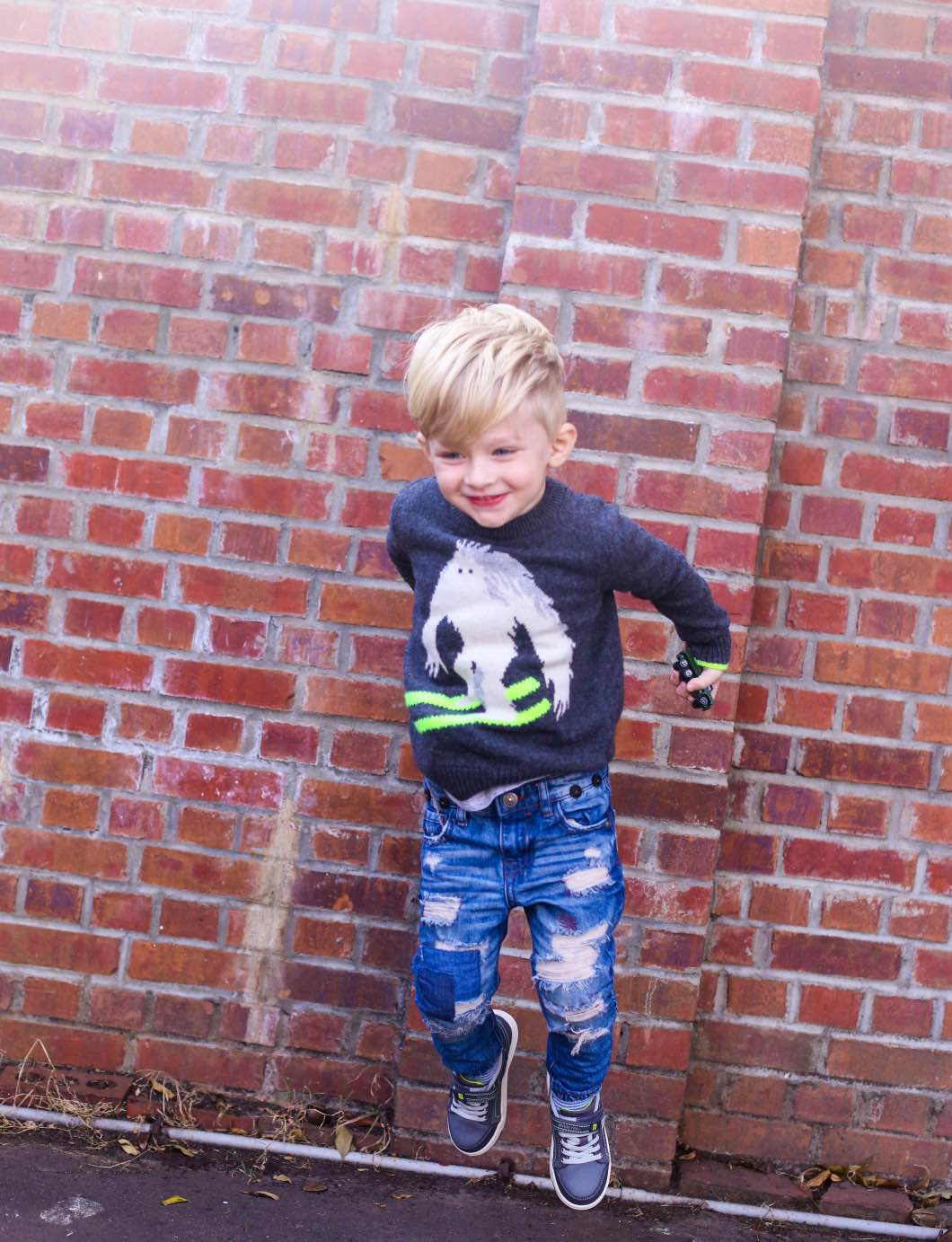 Toddler Boy Jumping Fashion