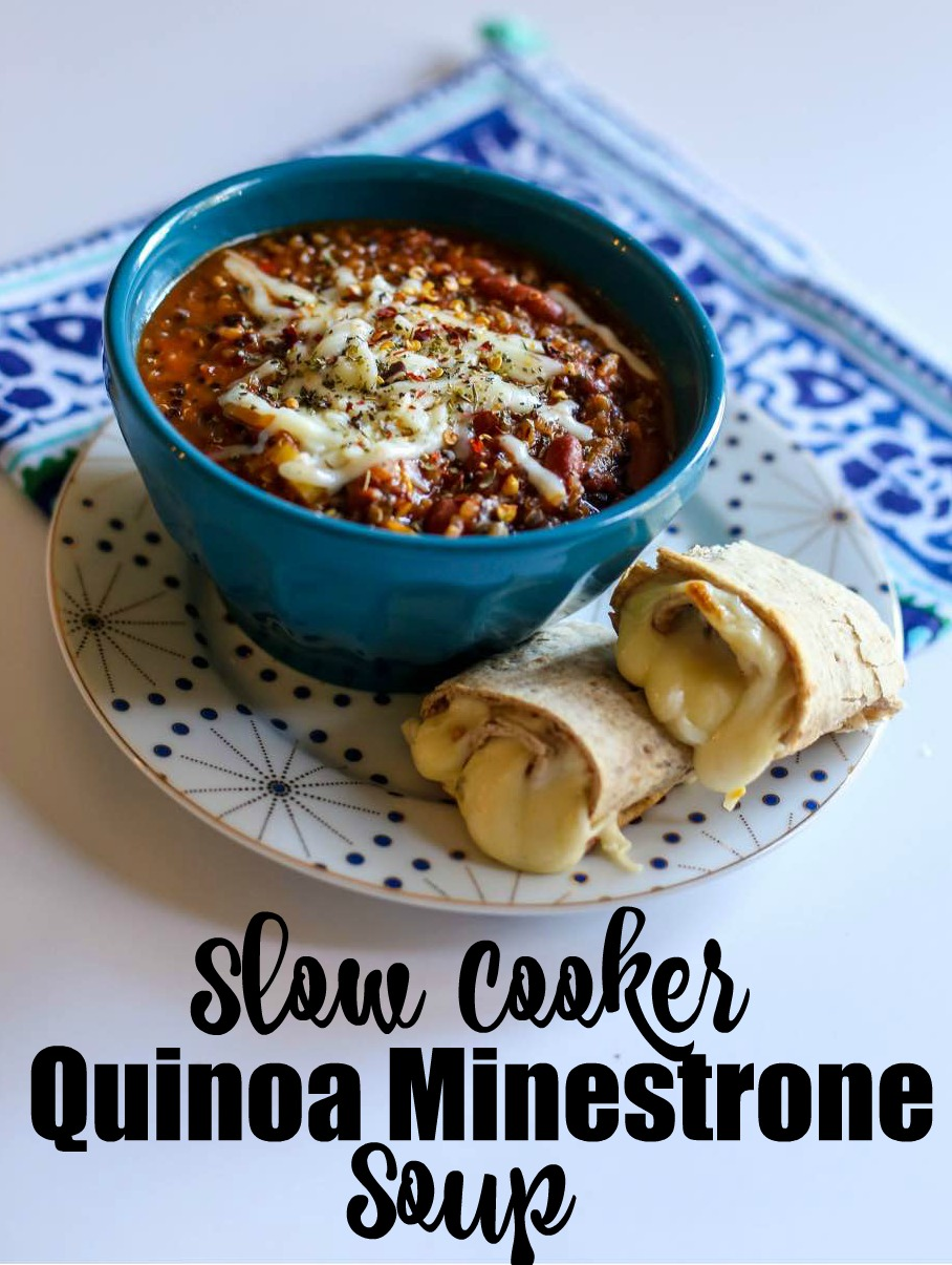 Slow Cooker Quinoa Minestrone Soup