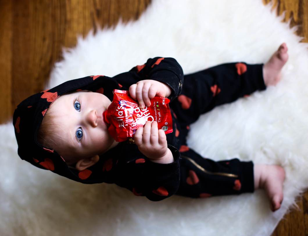 Ella brand food red pouch - Hosting the Holidays with Babbleboxx by Atlanta style blogger Happily Hughes