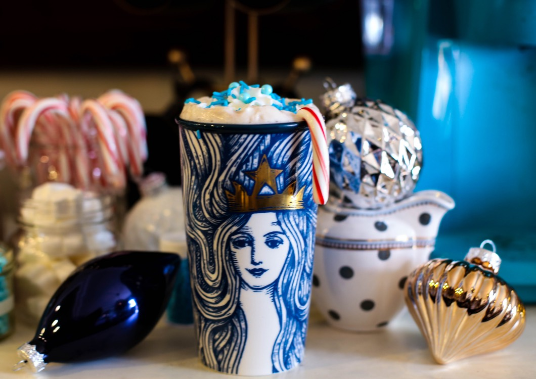 starbucks cup - Starbucks Christmas Coffee Bar by Atlanta style blogger Happily Hughes