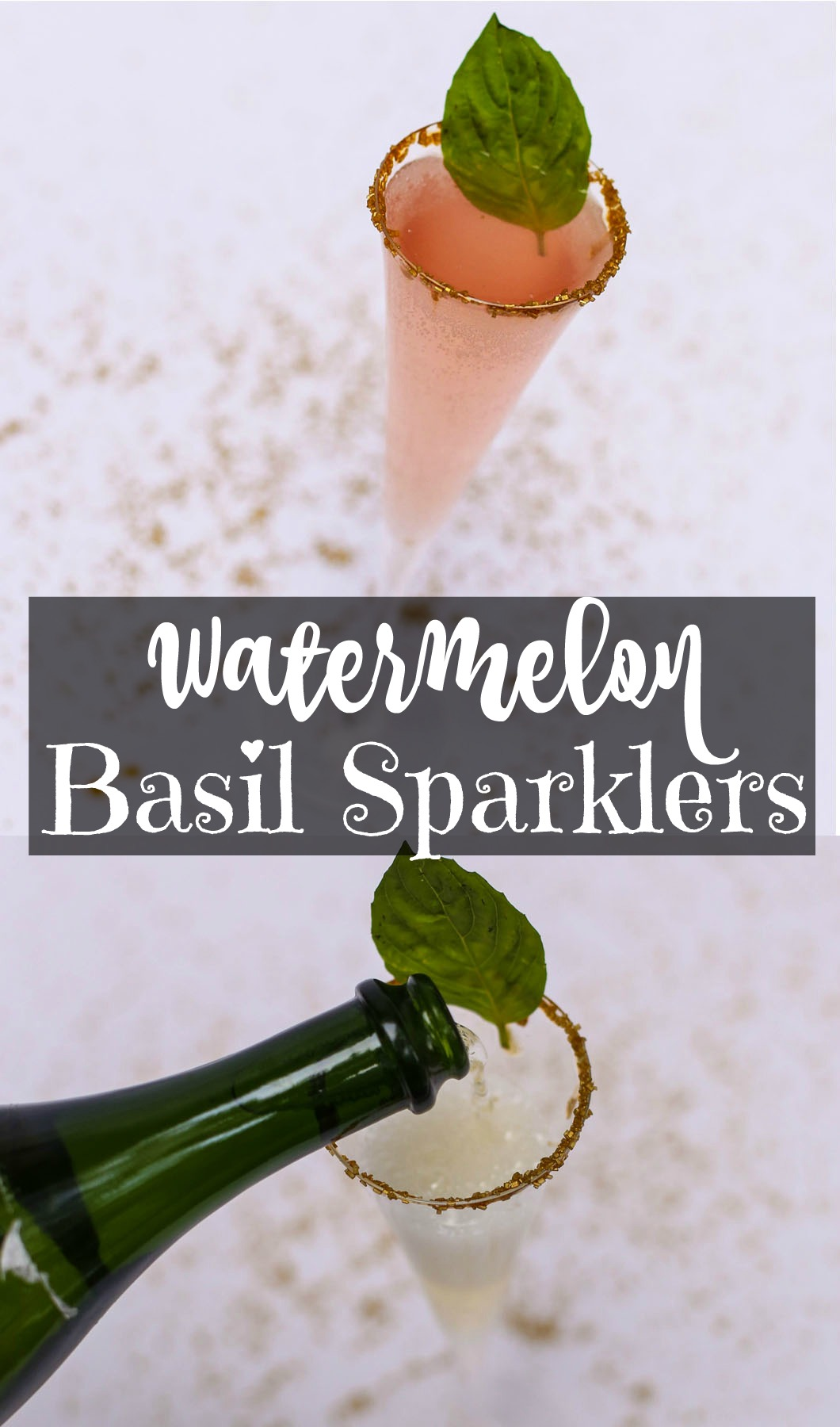 watermelonbasilsparklers - Holiday Beverages: Watermelon Basil Sparklers by Atlanta lifestyle blogger Happily Hughes