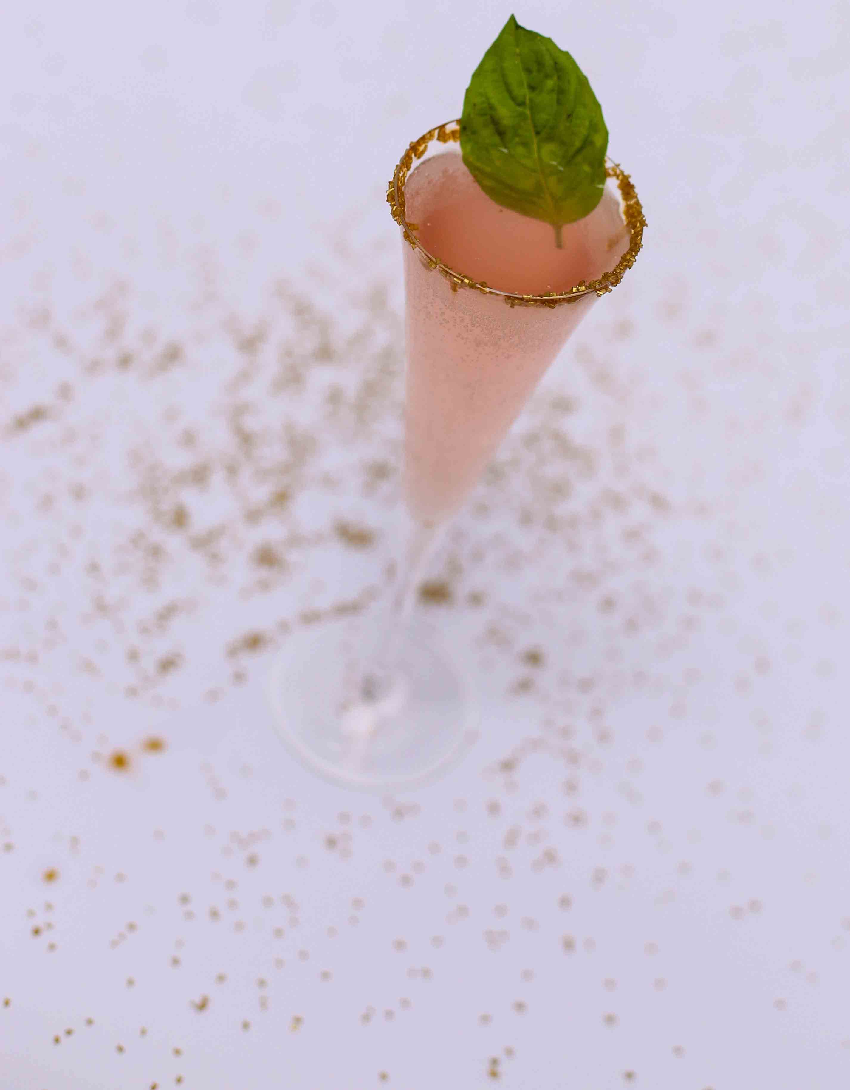 Watermelon Basil Sparklers - Holiday Beverages: Watermelon Basil Sparklers by Atlanta lifestyle blogger Happily Hughes