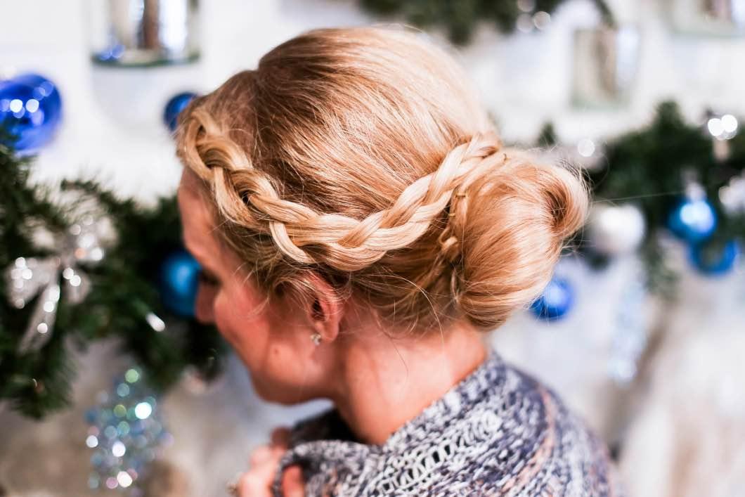 braided bun hair tutorial with babbleboxx happily hughes
