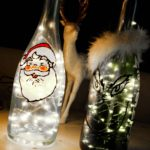 Christmas Painted Wine Bottles