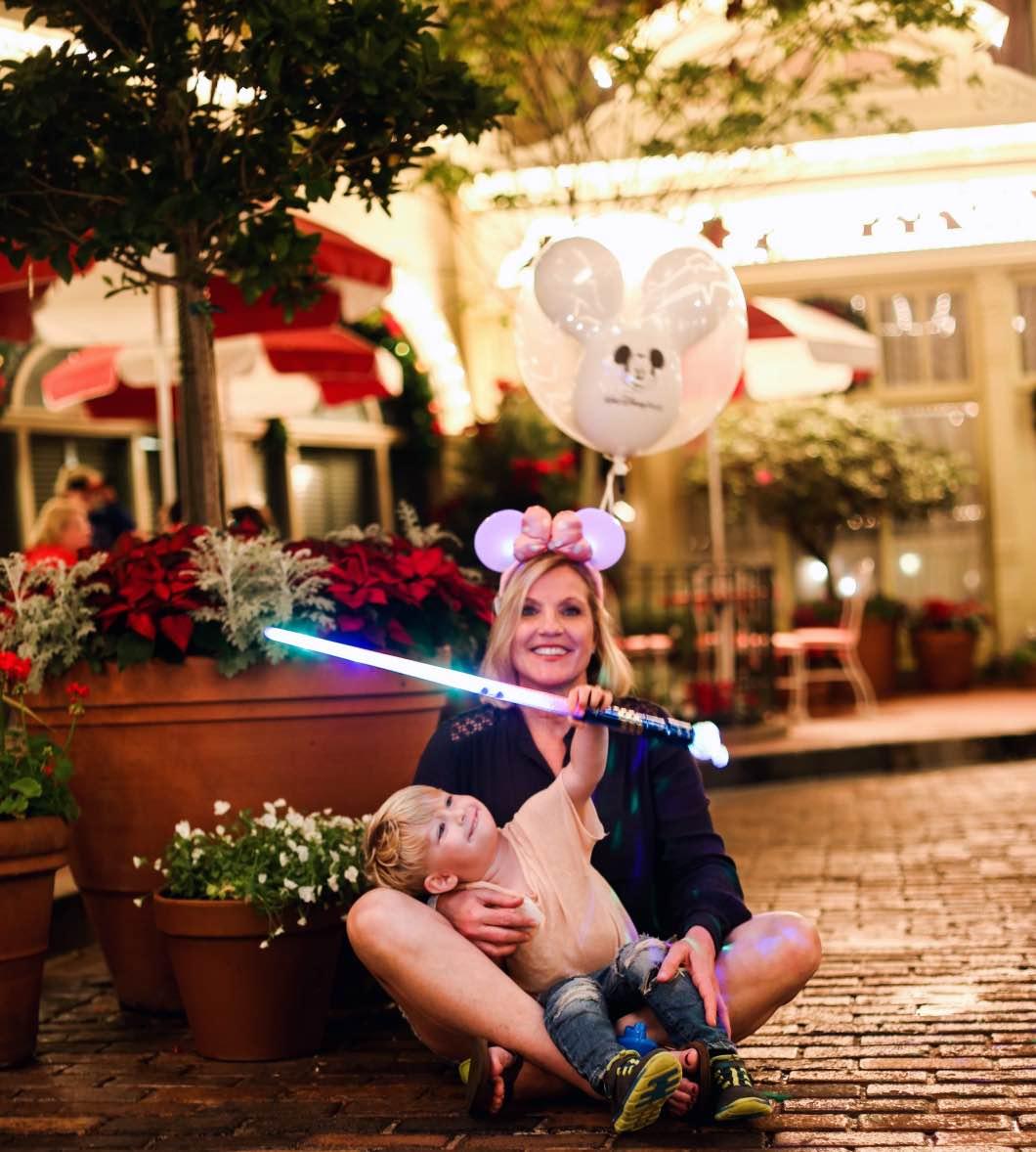 grandmaandtoddlermerrychristmasorlando - Holiday Attractions in Orlando by Atlanta travel blogger Happily Hughes