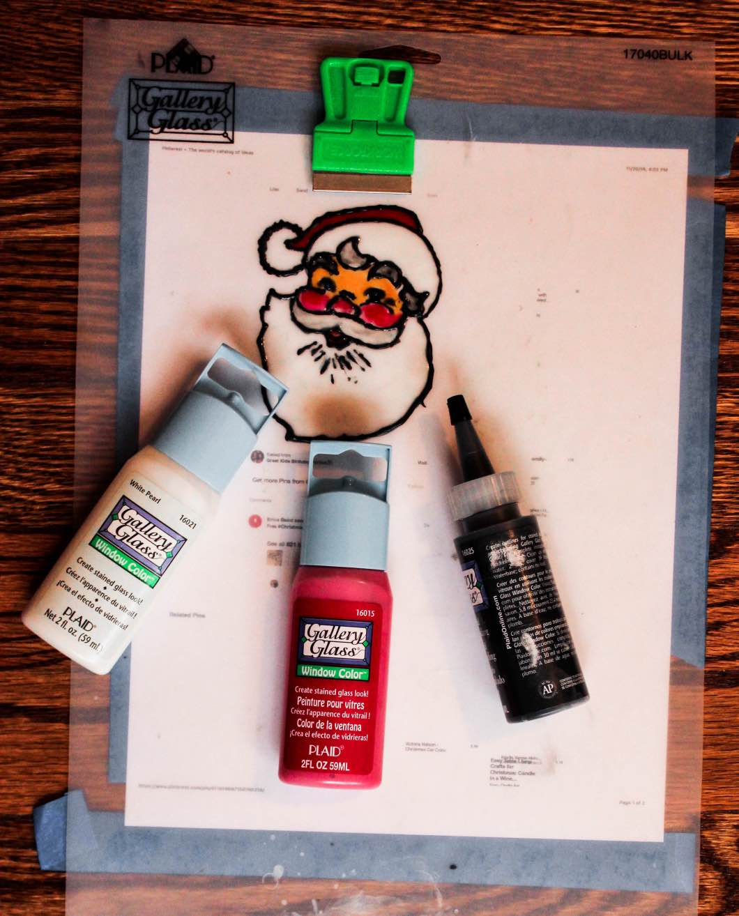 How to Glass Paint Christmas