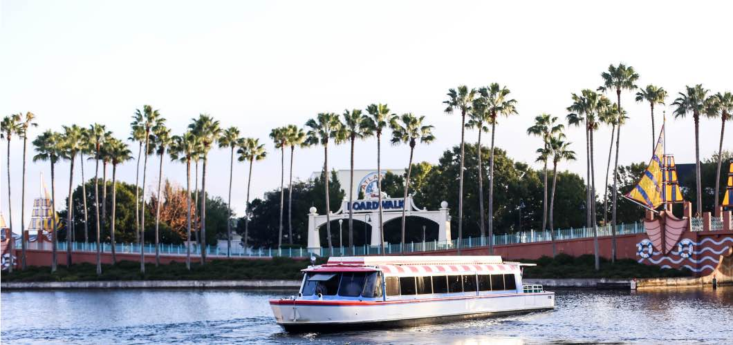 Swan and Dolphin Ferry to Disney - Holiday Attractions in Orlando by Atlanta travel blogger Happily Hughes
