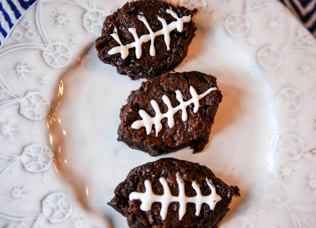 Football Brownie Recipe for Super Bowl