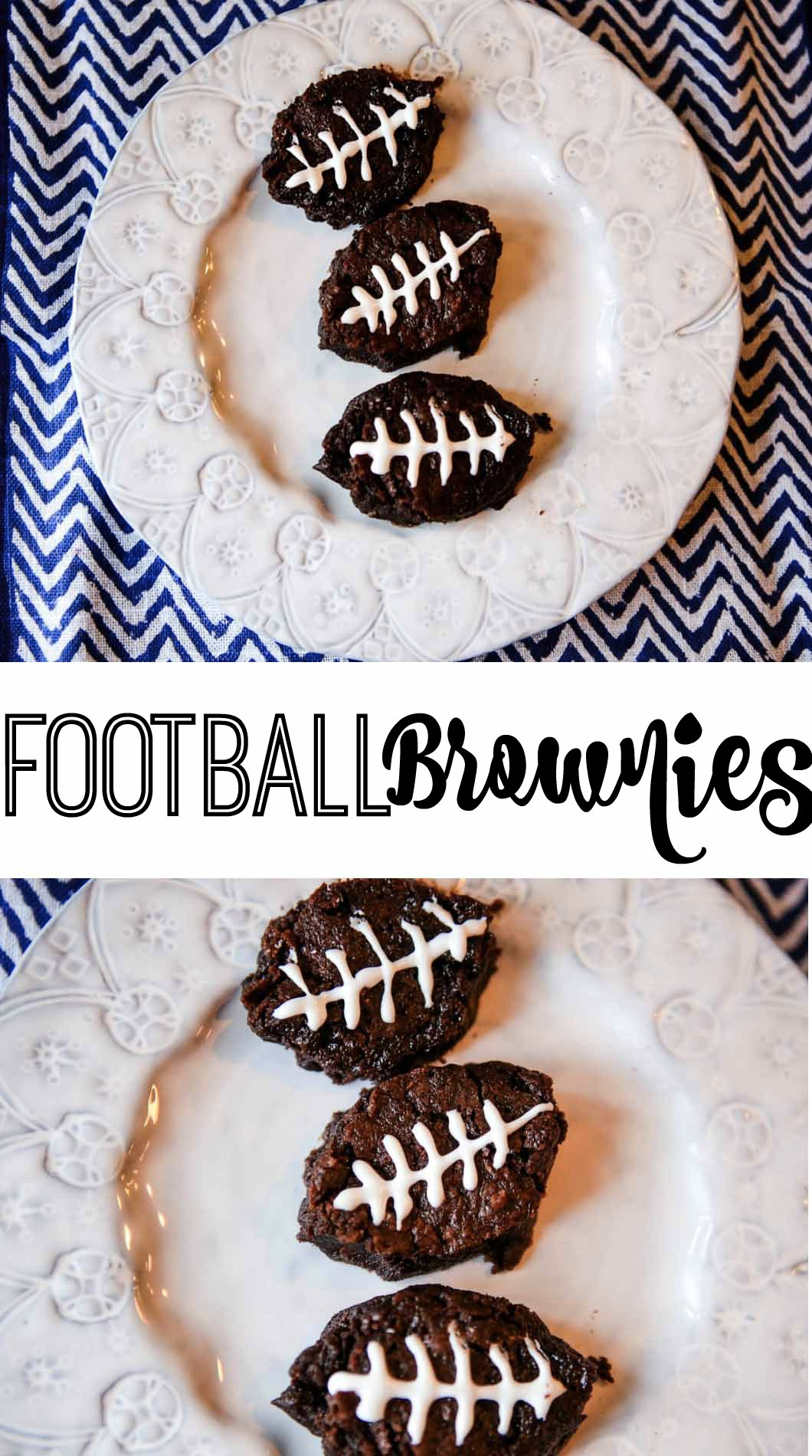 Football Brownies for the Super Bowl with fairlife Ultra-Filtered Milk by Atlanta style blogger Happily Hughes