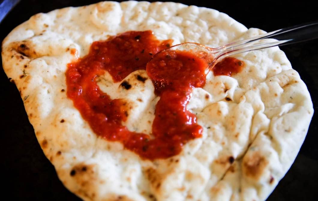 Marinara Sauce with Naan Bread