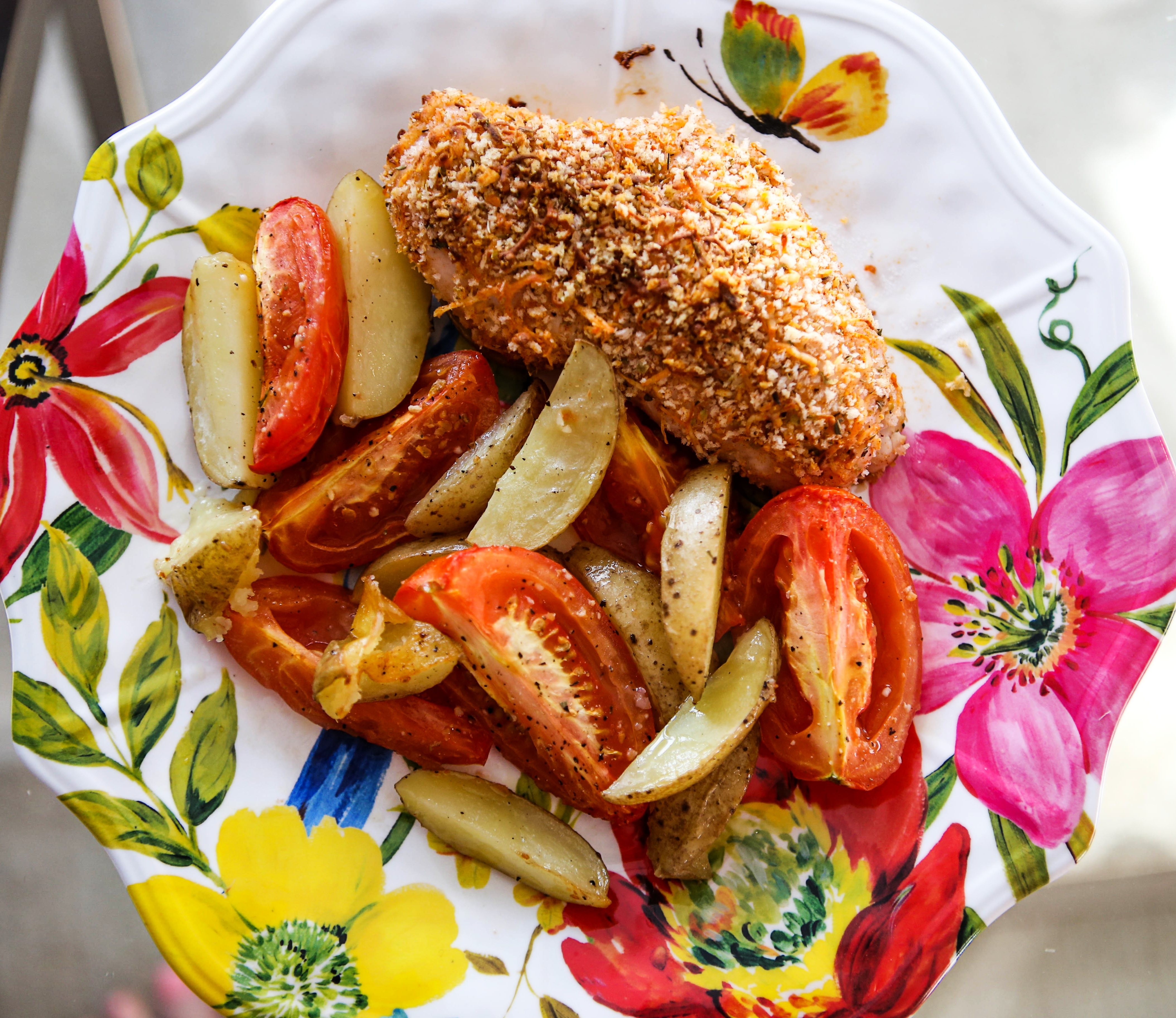 hello fresh breaded chicken and potatoes