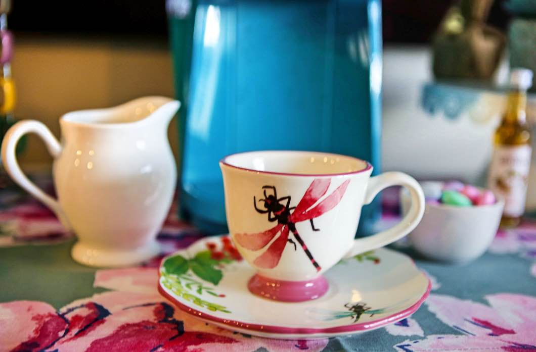 Adorable Spring Coffee Bar with World Market Coupon by Jessica from Happily Hughes