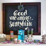 Spring Chalkboard and Coffee Bar