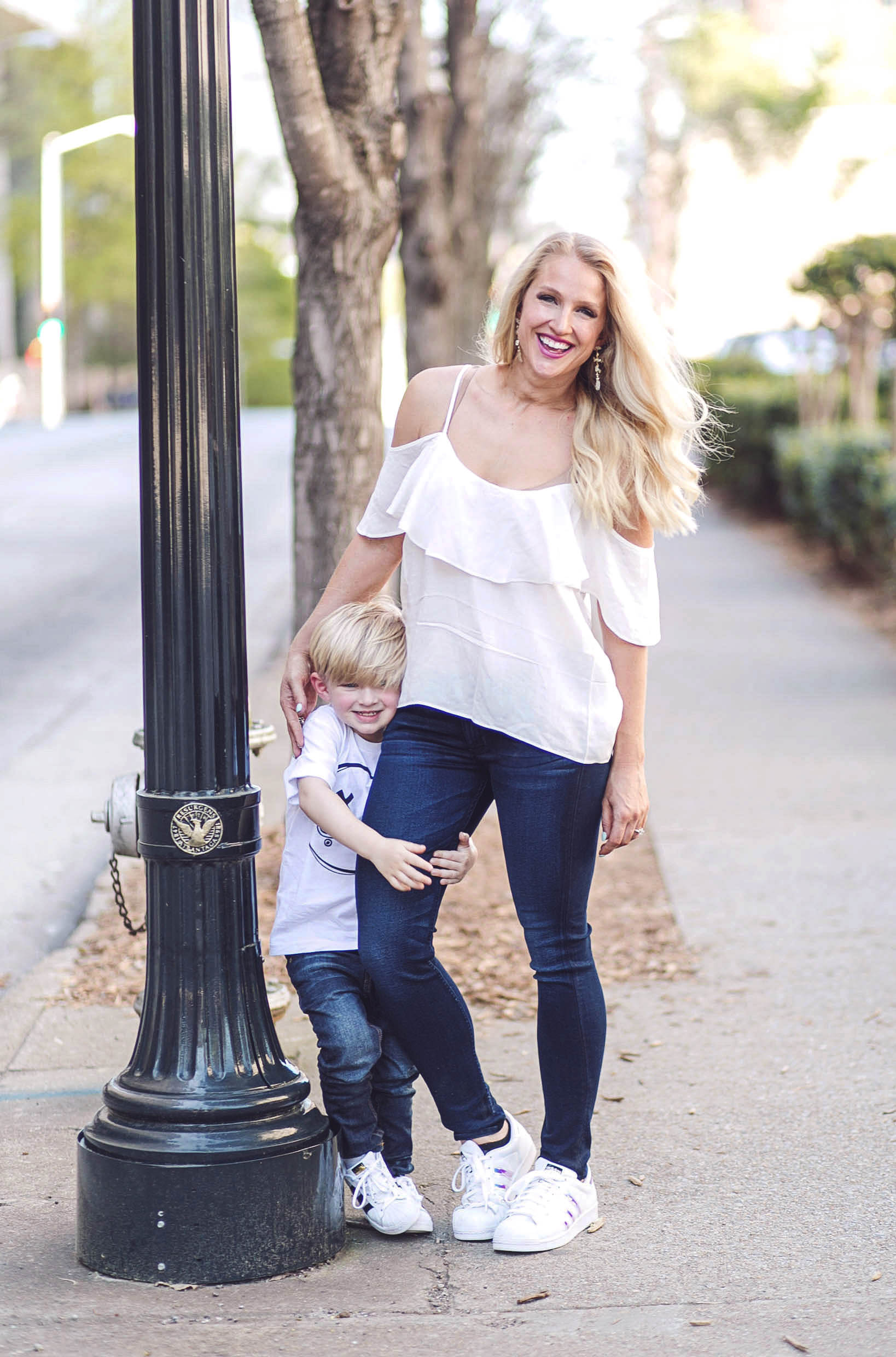 9f238ea6c2fca Matching Mother Son Outfits with Zappos by Atlanta fashion blogger Jessica  from Happily Hughes