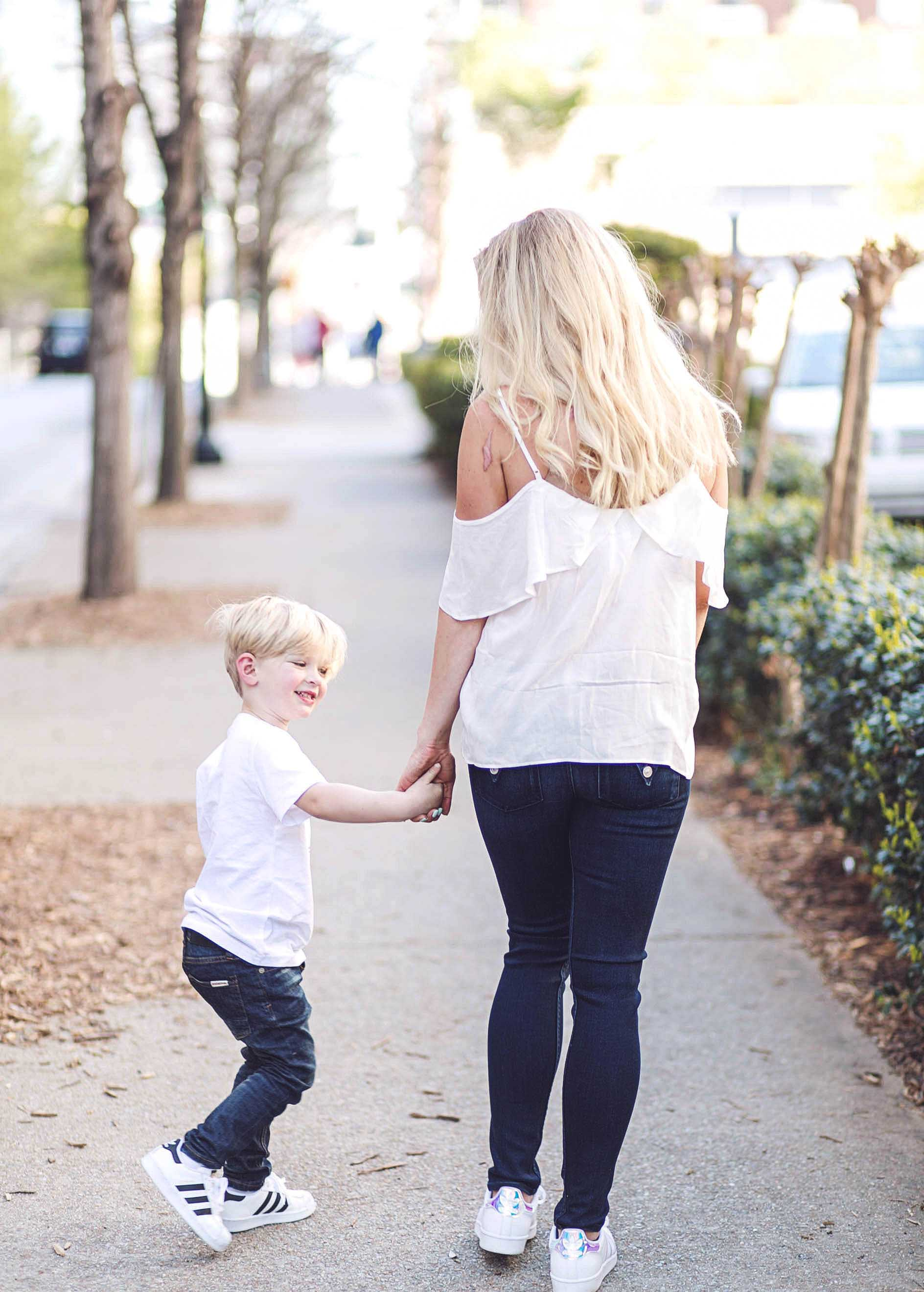 06187d39f4fd8 ... Matching Mother Son Outfits with Zappos by Atlanta fashion blogger  Jessica from Happily Hughes