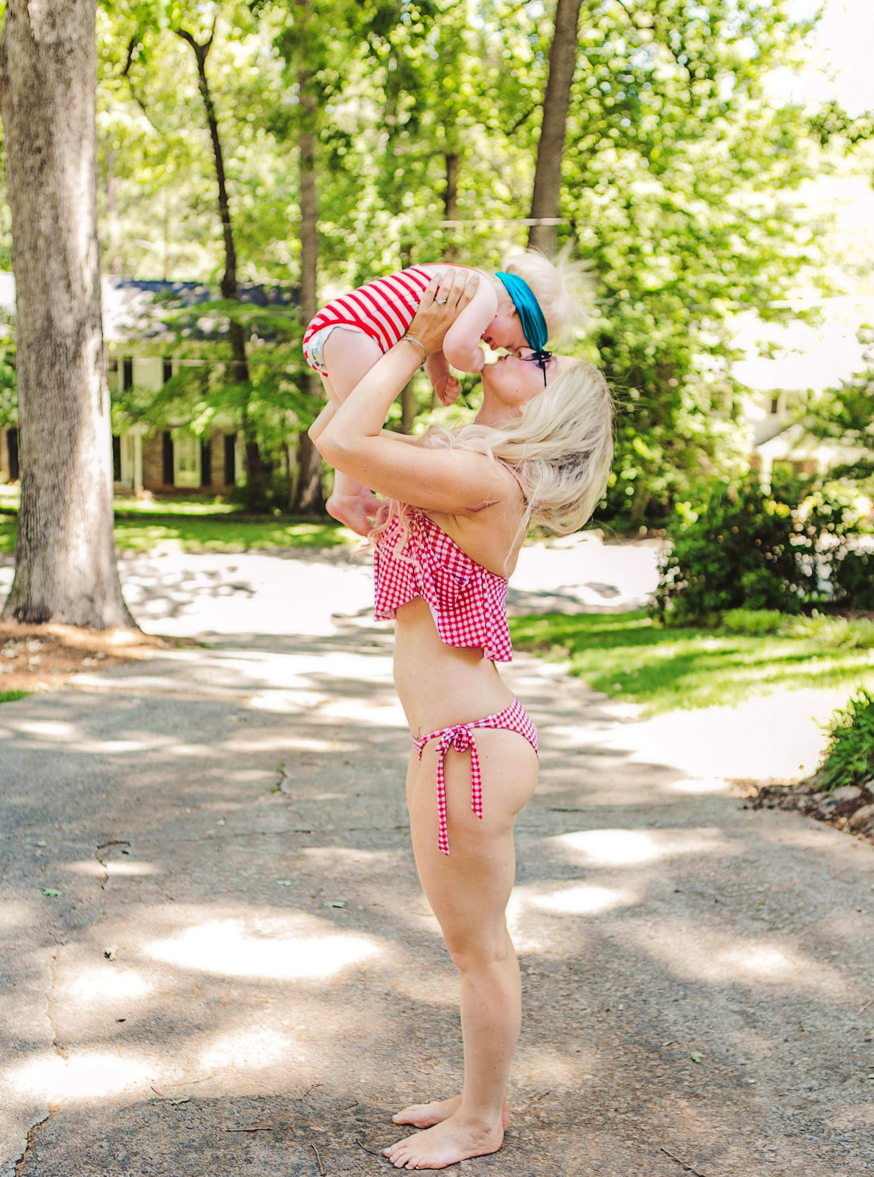Patriotic Clothes: Red, White and Blue For Mom Baby and Toddler by fashion blogger Jessica of Happily Hughes