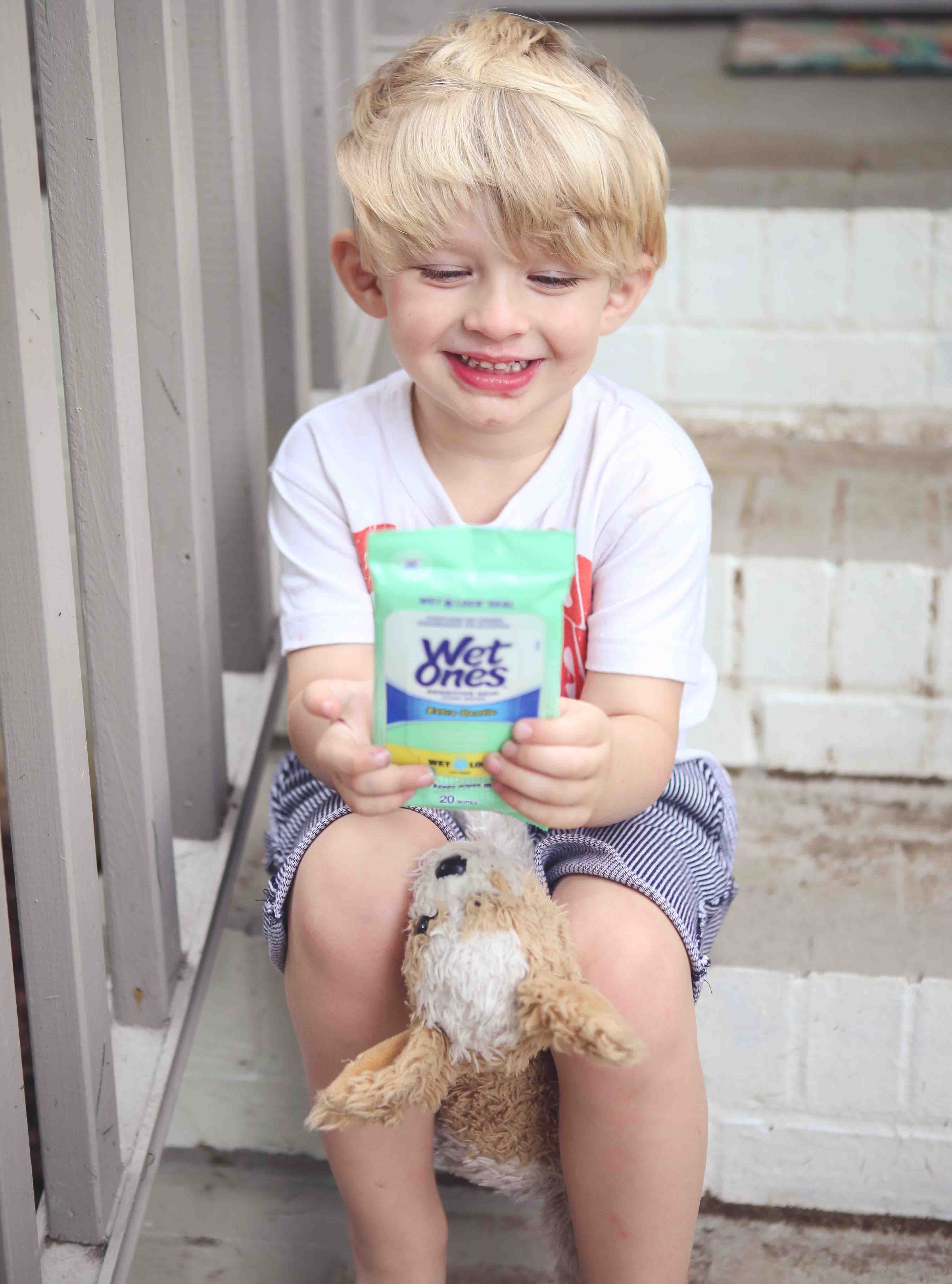 Traveling with Kids and Wet Ones® Hand Wipes by Atlanta blogger Jessica of Happily Hughes
