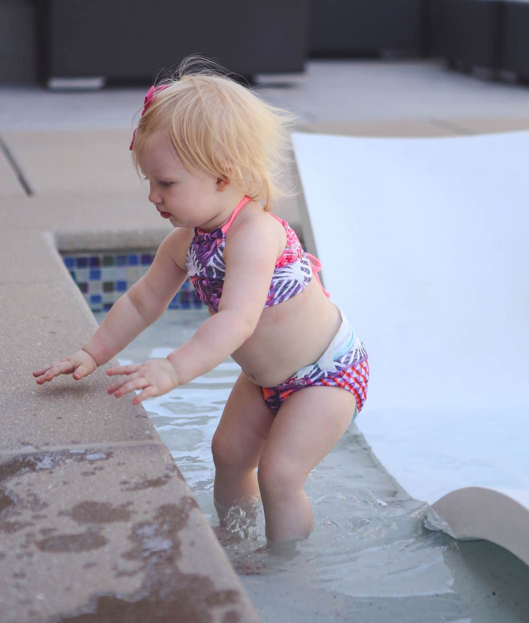 Mother Daughter Matching Swimsuits by popular Atlanta blogger Jessica of Happily Hughes