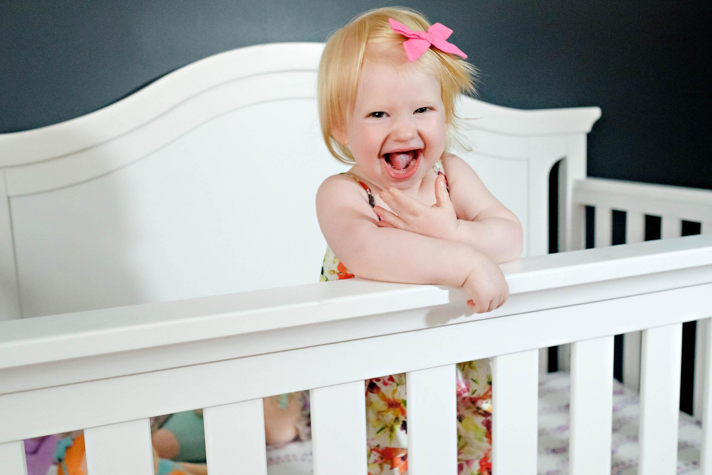 gerber baby - Girl Toddler Room Makeover by Atlanta mom blogger Happily Hughes