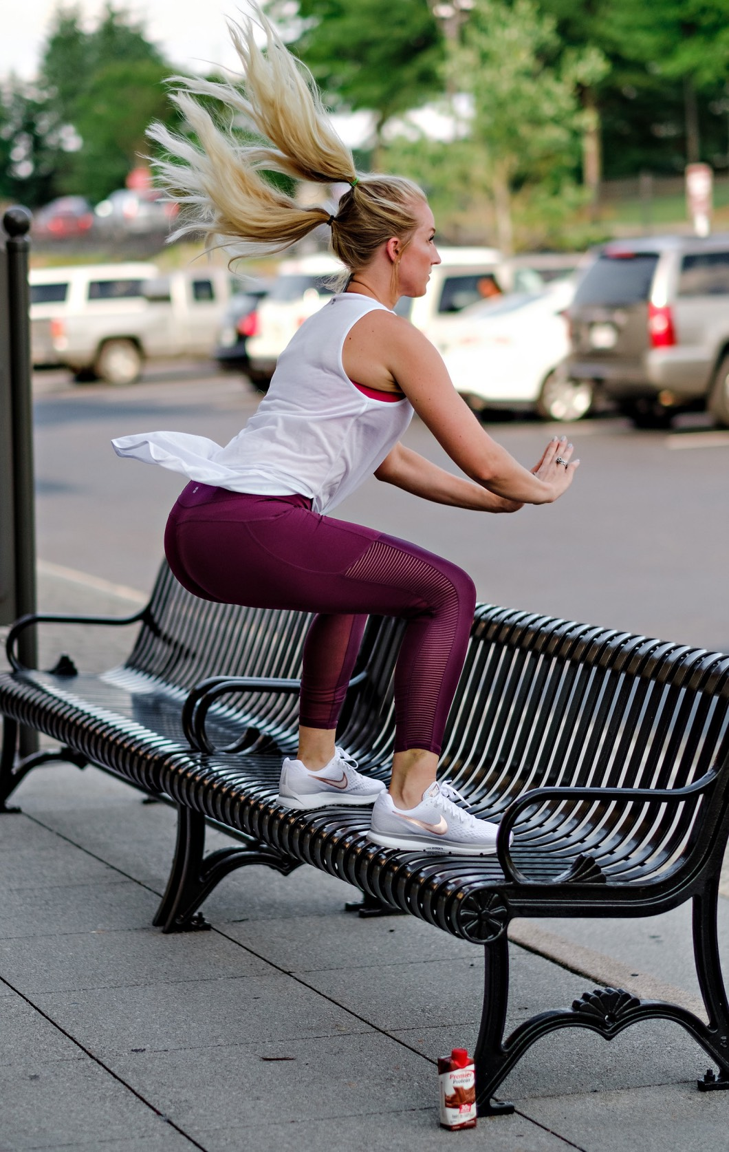 actionshotboxjumps - Butt Workout You Can Do Anywhere by Atlanta fitness blogger Happily Hughes