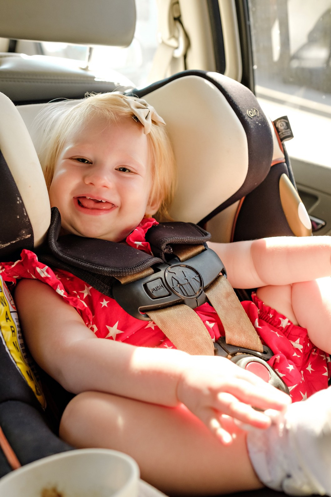 baby with fat rolls - How to Plan a Road Trip with Kids by Atlanta mom blogger Happily Hughes