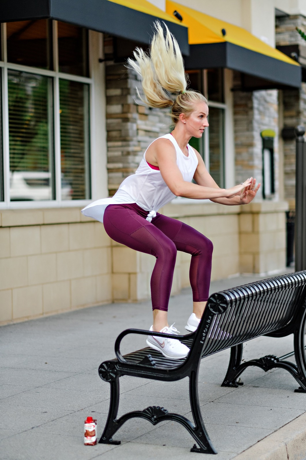 boxjumpsbuttworkout - Butt Workout You Can Do Anywhere by Atlanta fitness blogger Happily Hughes