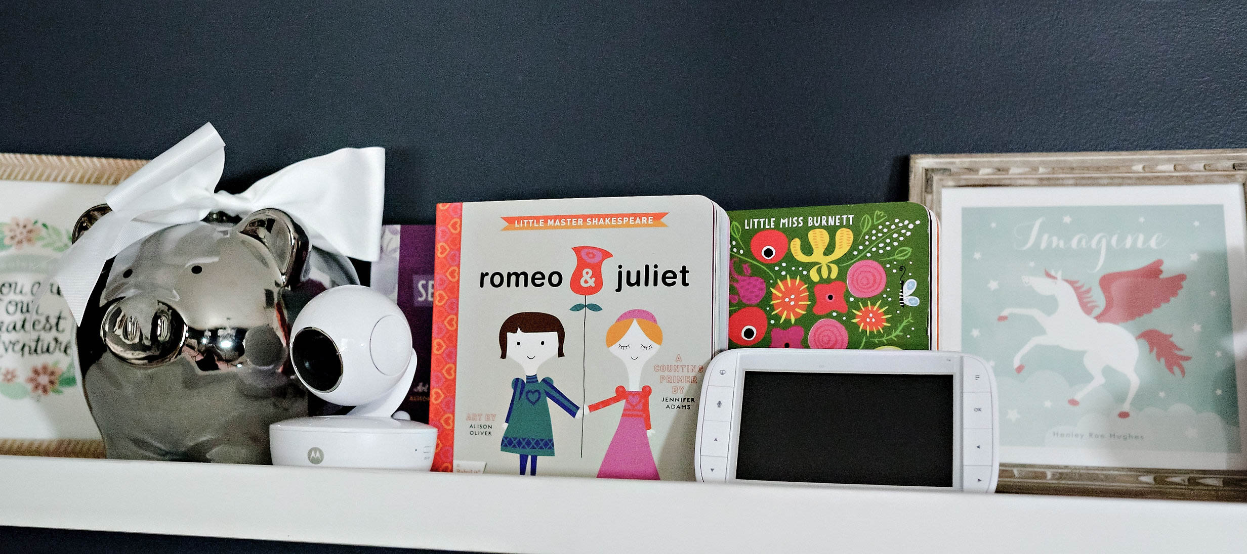 motorola monitor for babies - Girls Toddler Room Makeover by Atlanta mom blogger Happily Hughes