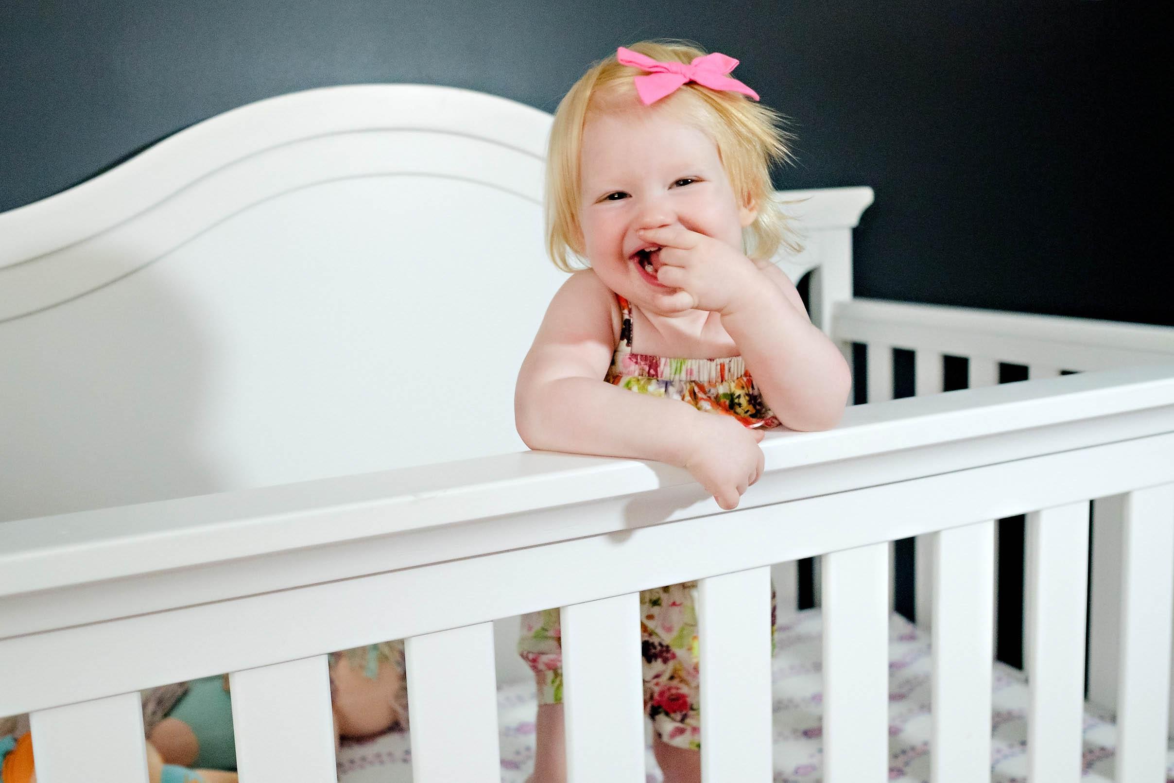 motorola toddler baby monitor - Girls Toddler Room Makeover by Atlanta mom blogger Happily Hughes