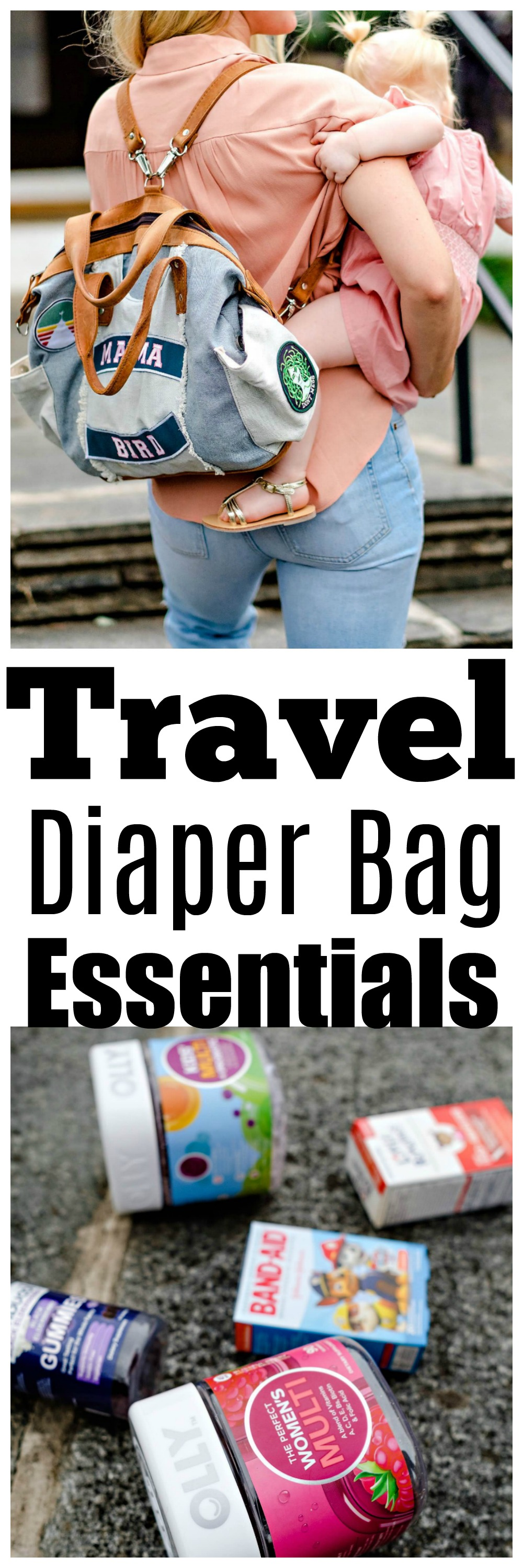 Travel Diaper Bag Essentials by Atlanta mom blogger Happily Hughes