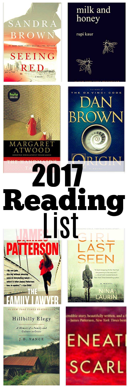 2017 reading list fiction