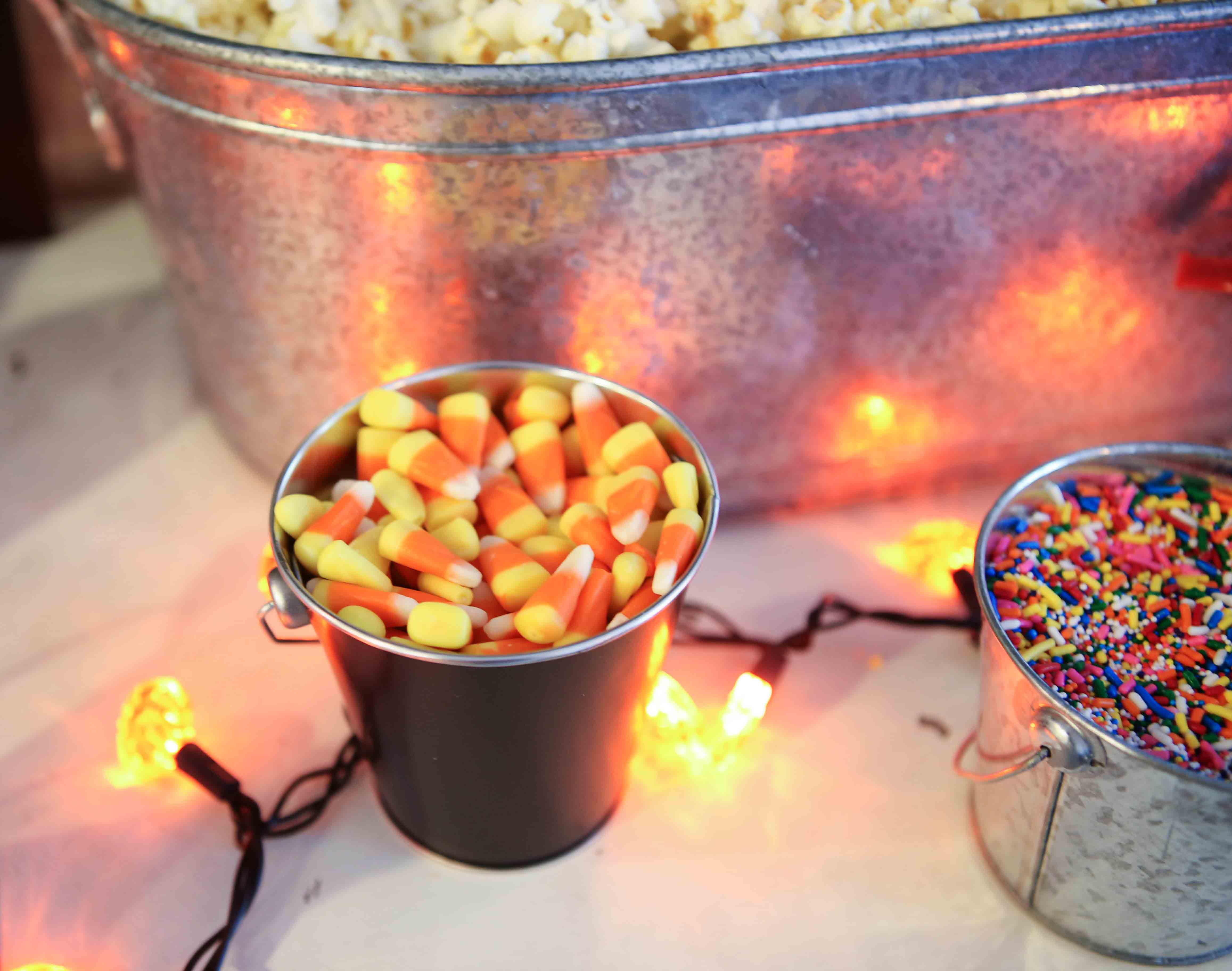Halloween Popcorn Bar by Atlanta lifestyle blogger Happily Hughes