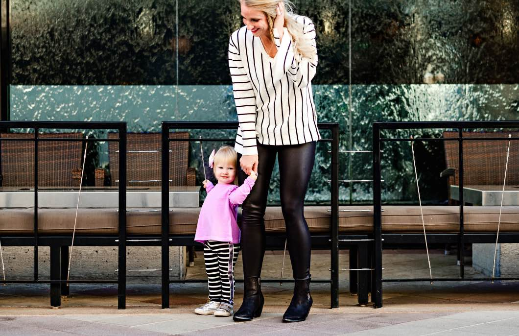 mommy and mini matching for fall - Mommy and Me Outfits - Matching Fall Outfits by Atlanta lifestyle blogger Happily Hughes