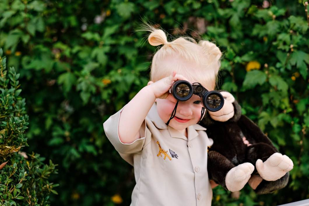 DIY Toddler Jane Goodall Costume by Atlanta mom blogger Happily Hughes